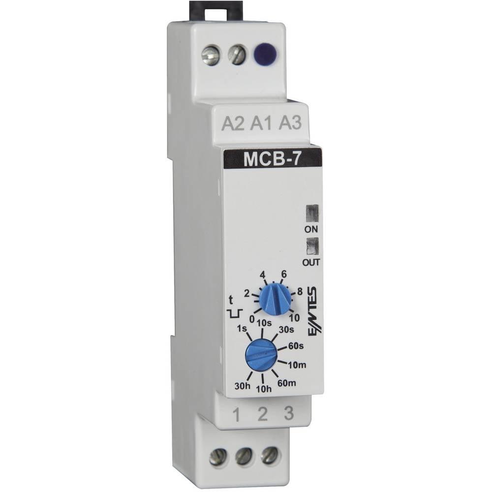 ENTES® MCB-7-Časovni rele, 24V/AC/DC/230 V/AC, 1NC, 8A