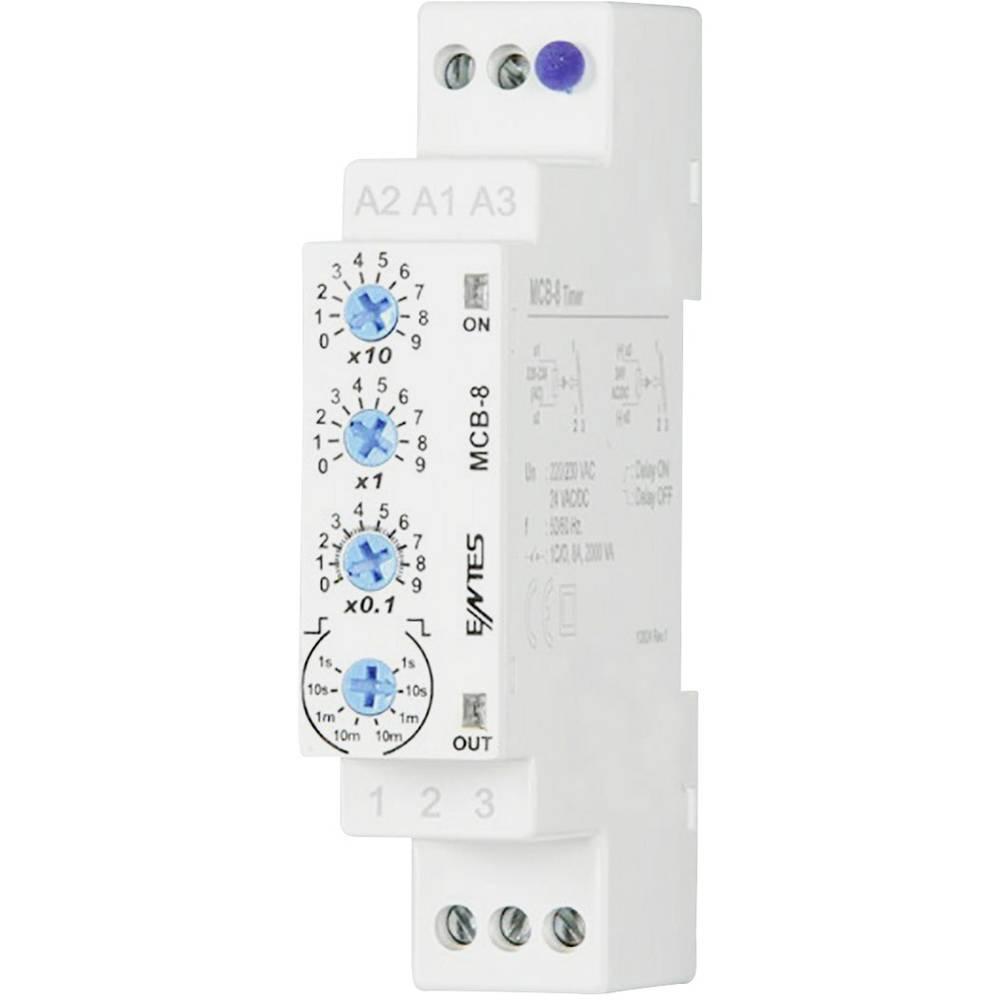 ENTES® MCB-8-Vremenski relej, 24V/AC/DC/230 V/AC, 1NC, 8A