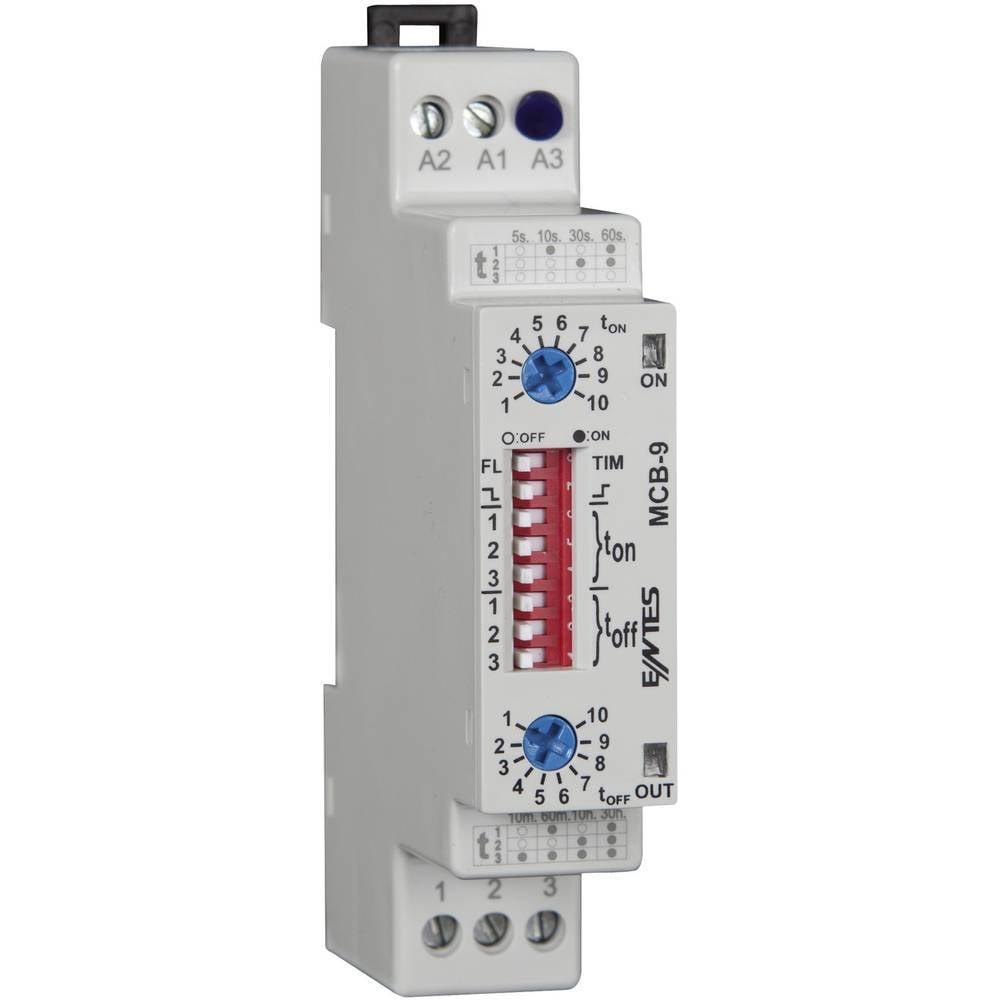 ENTES® MCB-9 Time Delay Relay, Timer, SPDT-CO (8 A) 24 V/AC/DC/230 V/AC