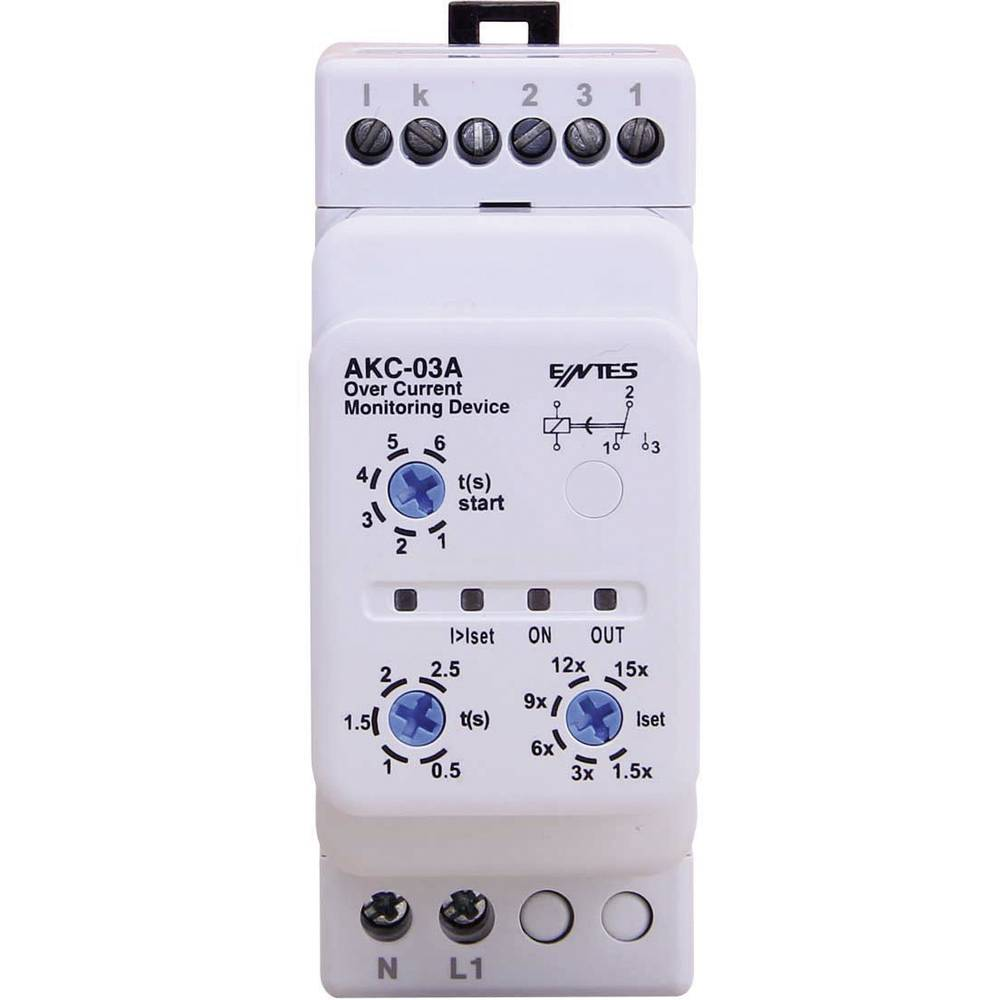 ENTES® AKC-03A-Nadzorni relej protoka struje sa strujnim transformatorom CT-25