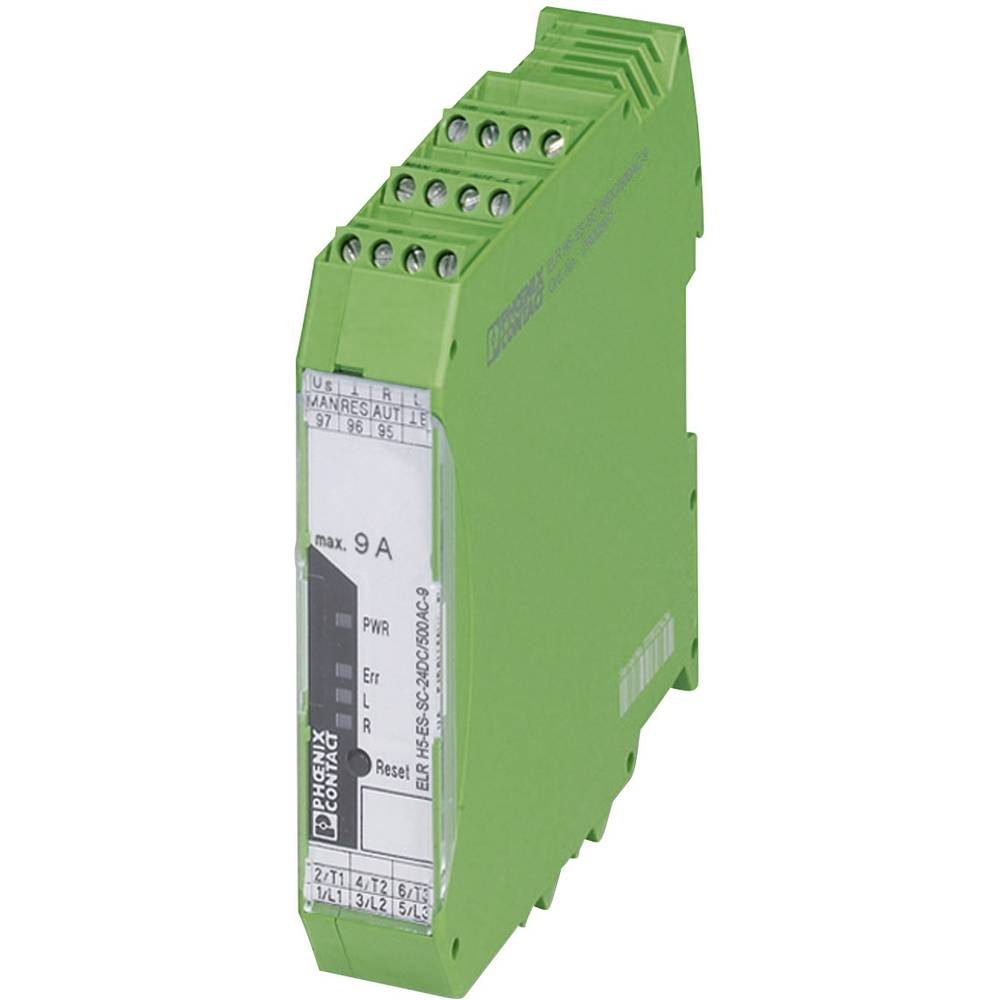 Zaštita motora 1 kom. ELR H5-ES-SC- 24DC/500AC-2 Phoenix Contact strujno opterećenje: 2.4 A preklopni napon (maks.): 550 V/AC