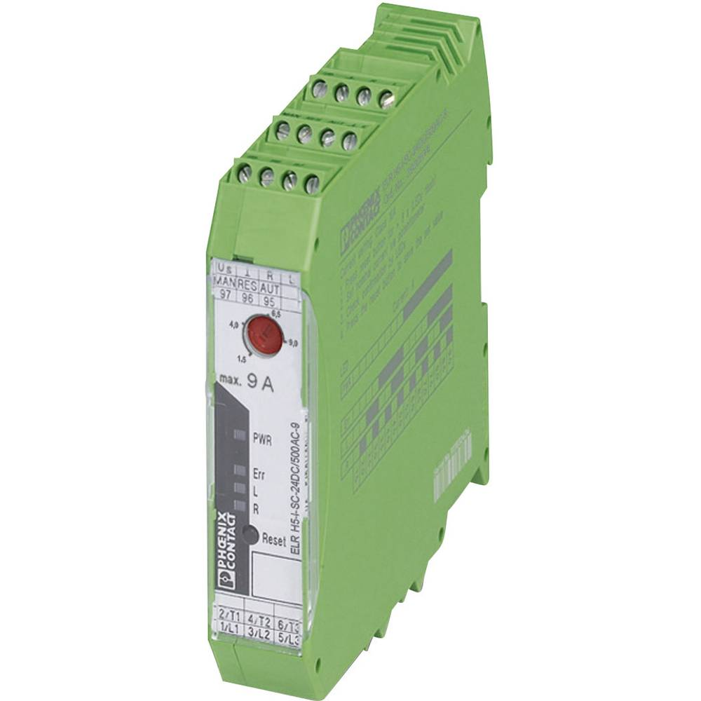 Zaščita motorja 1 kos ELR H5-I-SC- 24DC/500AC-2 Phoenix Contact bremenski tok: 2.4 A preklopna napetost (maks.): 550 V/AC