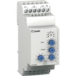 Overvågningsrelæer 120 - 277 V/AC 1 x skiftekontakt, 1 x skiftekontakt 1 stk Crouzet H3USN Trefasesystem, Overvågningsfase, Over