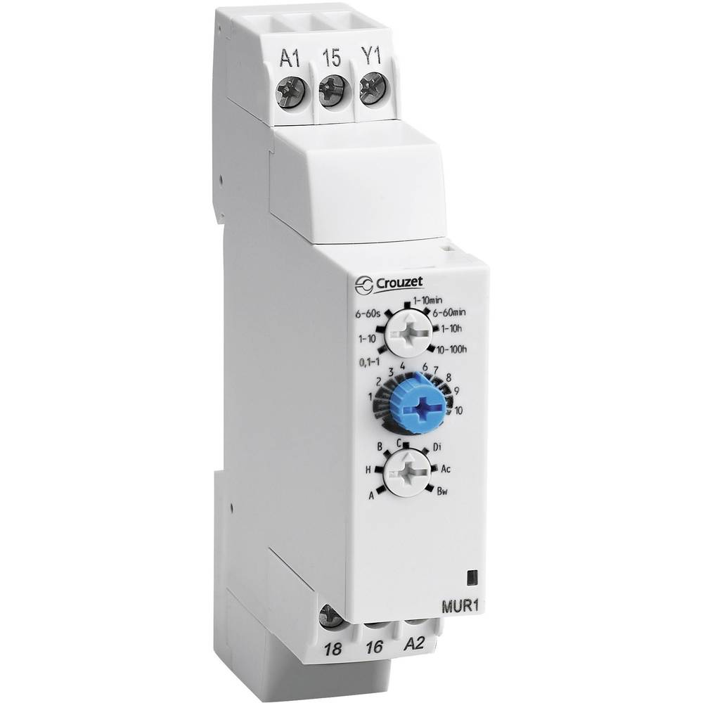 Crouzet-Elektronski vremenski relej Chronos 2MUR3, 12-240V DC/AC, 1NC, 8A DC/AC
