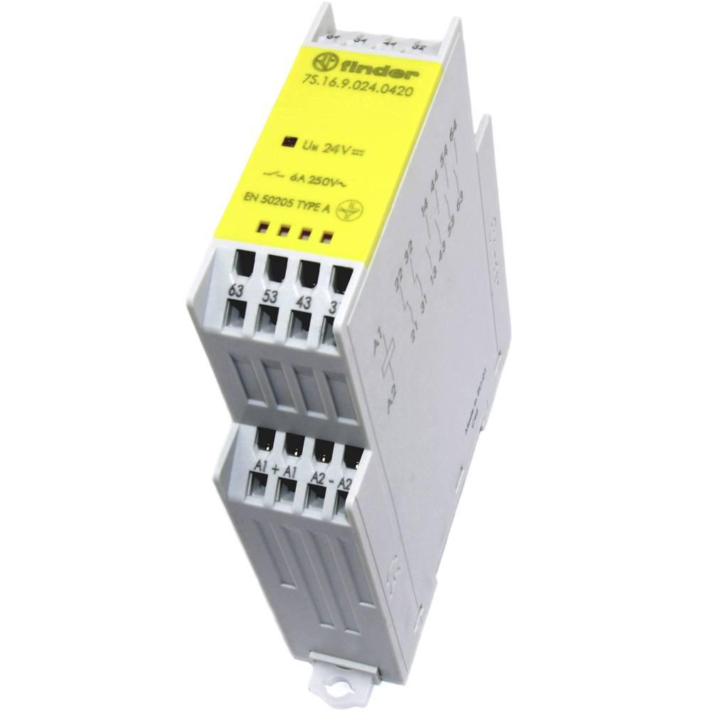 Industrierelais (value.1468820) 1 stk Finder 7S.16.9.024.0420 Nominel spænding: 24 V/DC Brydestrøm (max.): 6 A 4 Schließer (valu