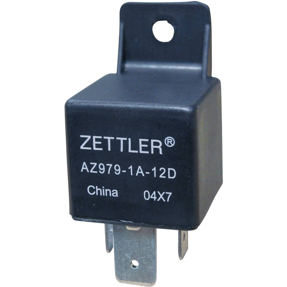 Kfz-Relais (value.1292934) 12 V/DC 80 A 1 Schließer (value.1345270) Zettler Electronics AZ979-1A-12D