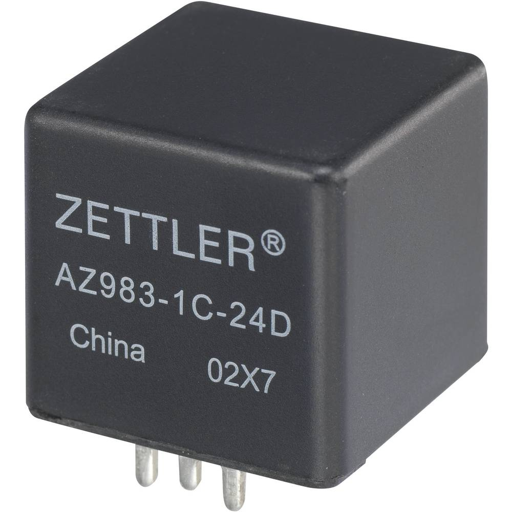 Kfz-Relais (value.1292934) 12 V/DC 80 A 1 Schließer (value.1345270) Zettler Electronics AZ983-1A-12D