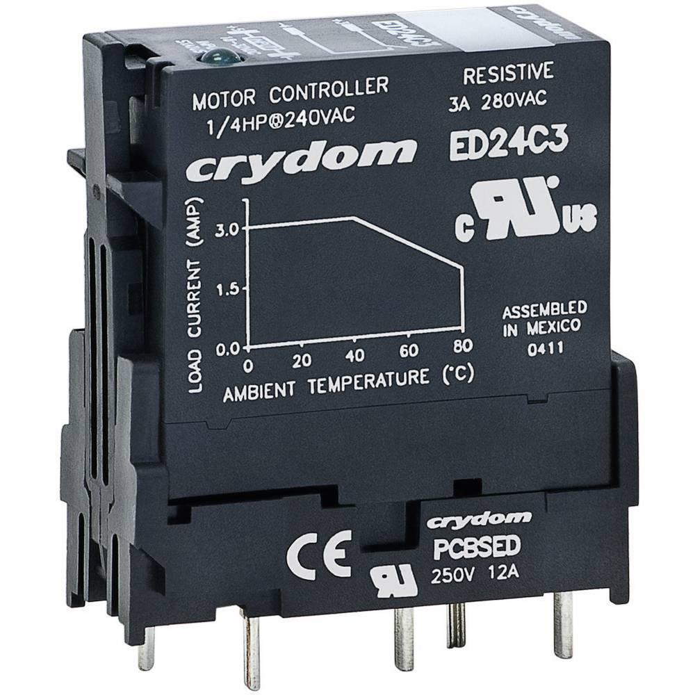 Utični poluprovodnički relej Crydom ED24C3, struja: 3 A