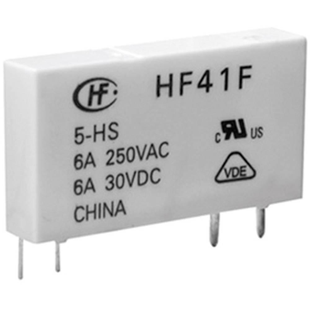Omrežni rele Hongfa HF41F/024-ZST, 24 V/DC, 1 x preklopni k., maks. 6 A, 30 V/DC/277 V/AC