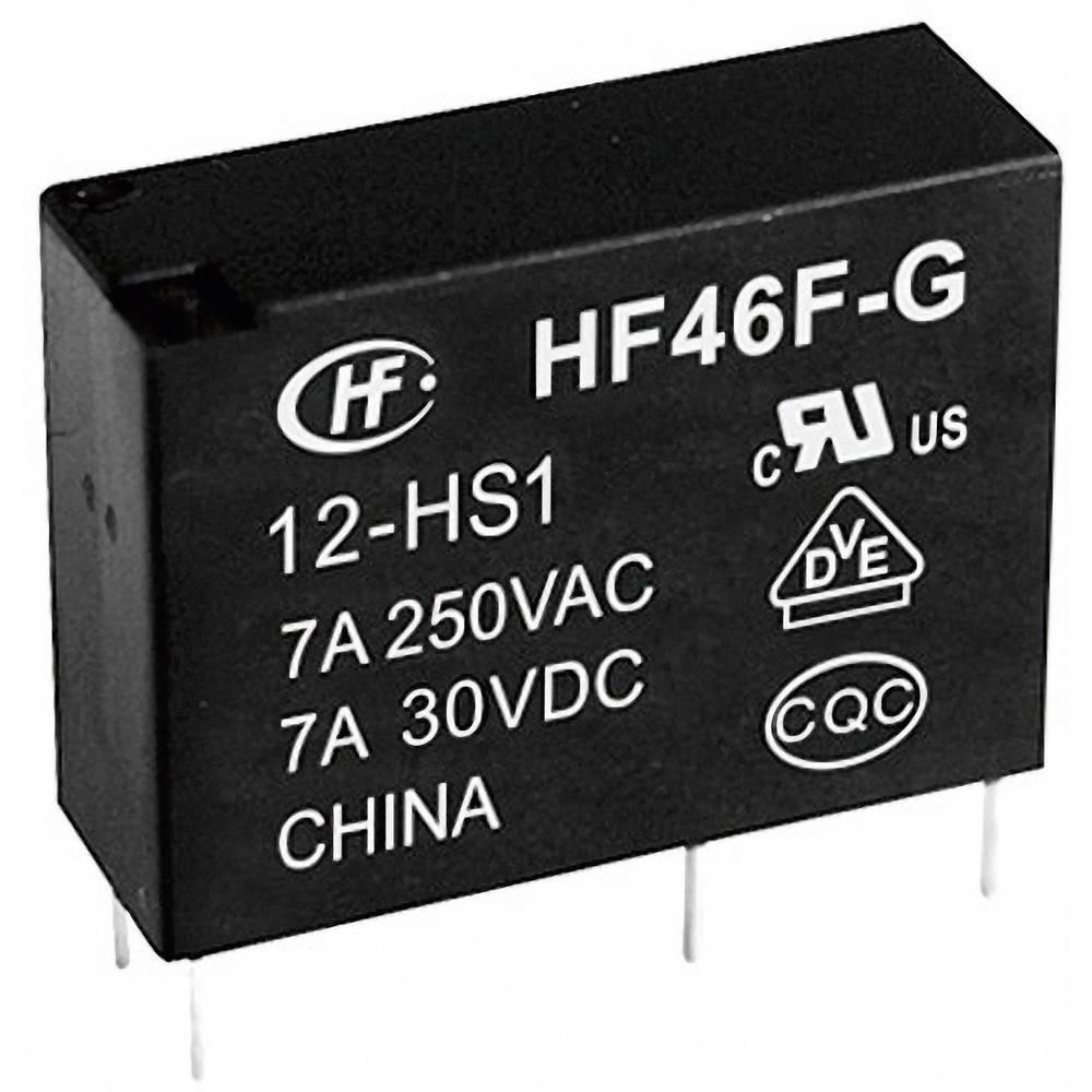Omrežni rele Hongfa HF46F-G/005-HS1, 5 V/DC, 1 x preklopni k., 10 A, 30 V/DC/277 V/AC