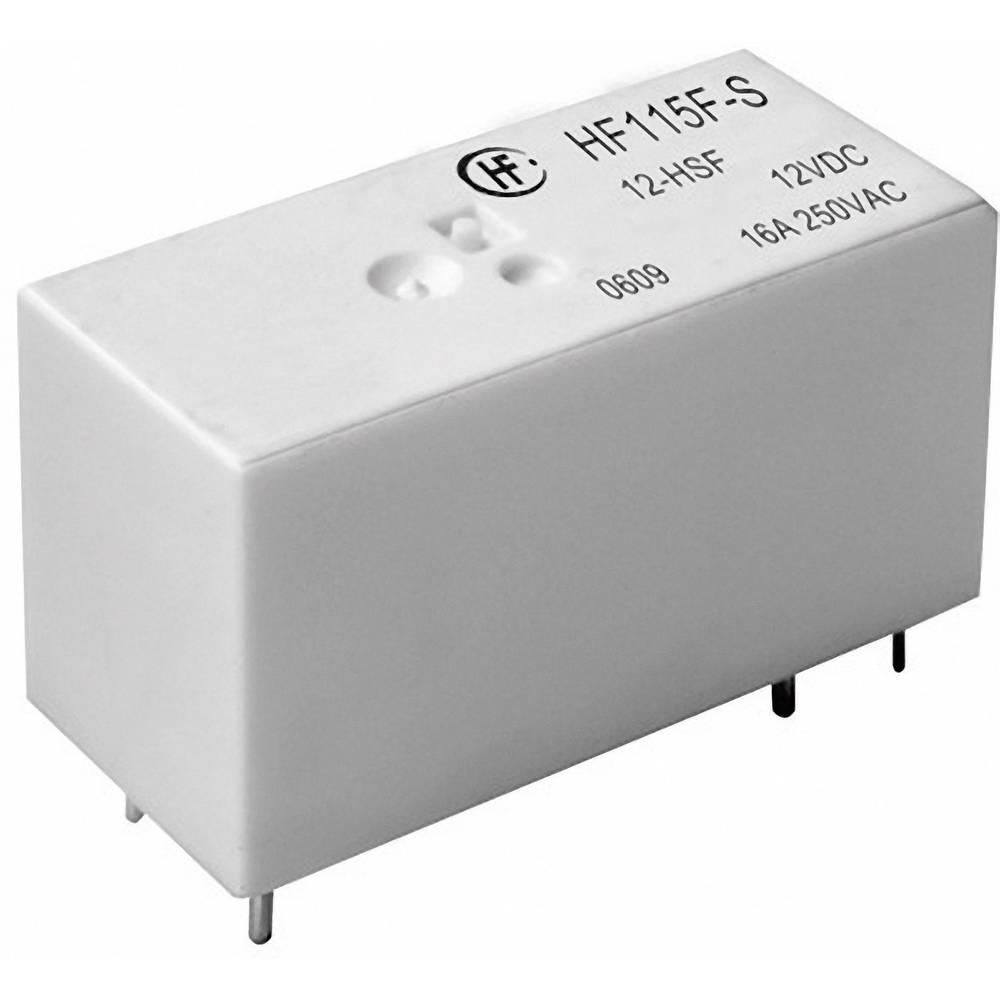 Omrežni rele Hongfa HF115F-S/012-HSF, 12 V/DC, 1 x delovni k., maks. 16 A, maks. 440 V/AC