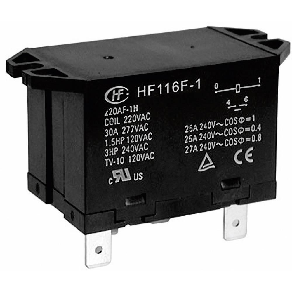 Močnostni rele Hongfa HF116F-1/024DA-2HTW, 24 V/DC, 2 x delovni k., maks. 25 A, 277 V/AC