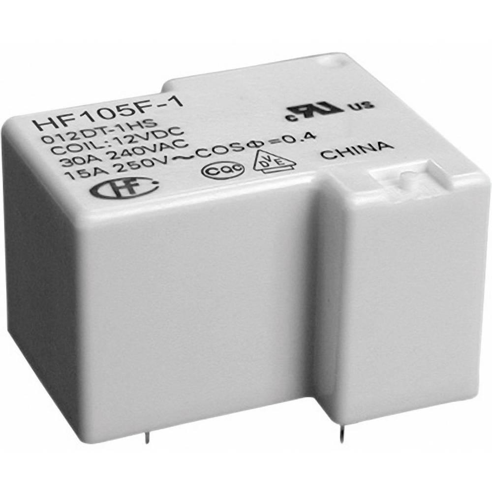 Miniaturni močnostni rele Hongfa HF105F-1/024DT-1ZST (136),24 V/DC, 2 x preklopni kontakt