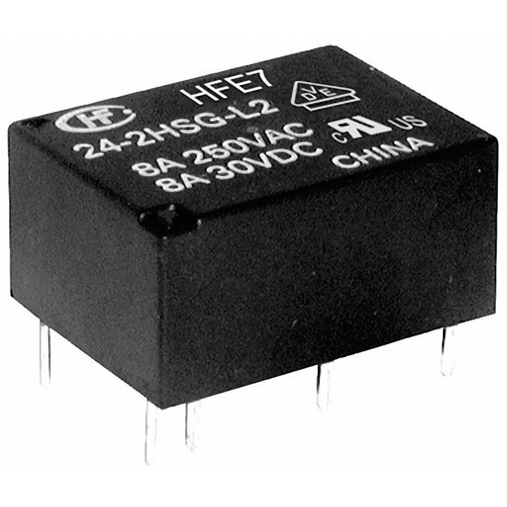 Miniaturni močnostni rele Hongfa HFE7/024-1HDST, 24 V/DC, 1xdelovni/1 x mirovni k., 8 A