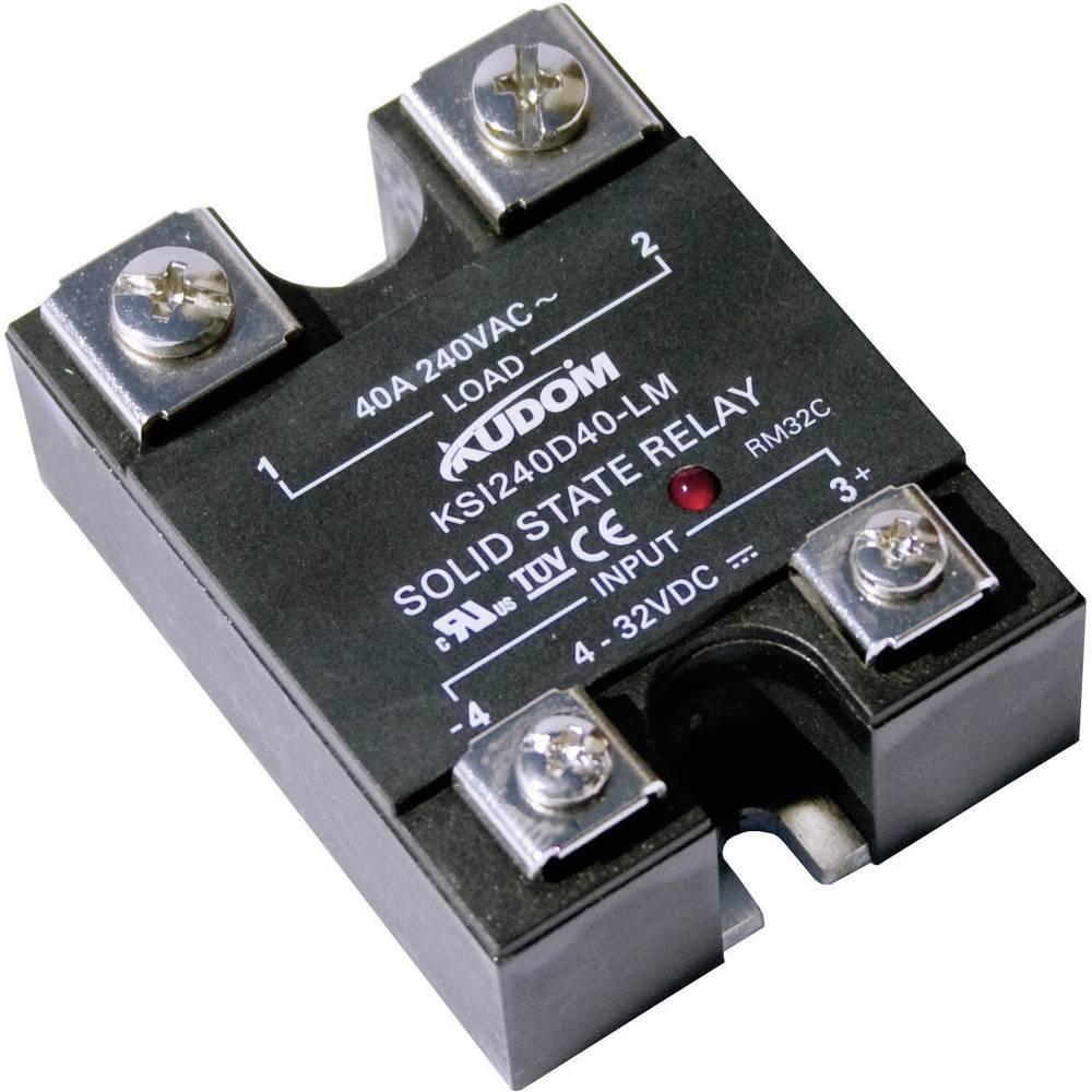 Halbleiterrelais (value.1292894) 1 stk Kudom KSI240 D10 LM Last-Strøm (maks.): 10 A Koblingsspænding (max.): 280 V/AC Vekslende