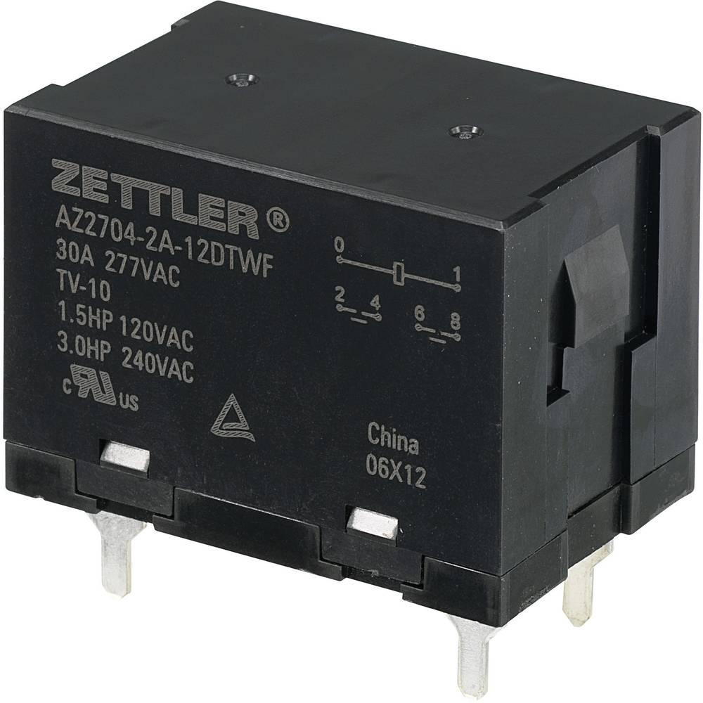 Močnostni rele Zettler Electronics AZ2704-2A-12DTWF, 12 V/DC, 2 x delovni k., maks. 30 A
