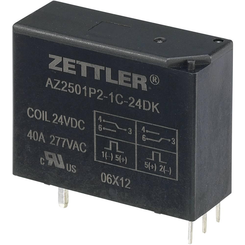 Bistabilni močnostni rele Zettler Electronics AZ2501P2-1C-24DK, 24 V/DC, 1 x preklopni k.