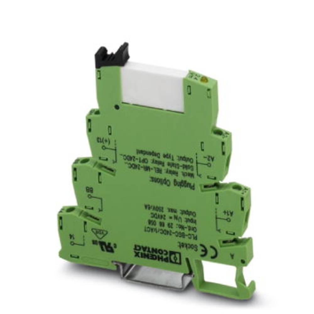 Interfacerelæ 10 stk 24 V/DC 6 A 1 x sluttekontakt Phoenix Contact PLC-RSP- 24DC/ 1/ACT