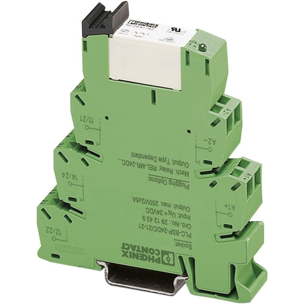 Interfacerelæ 10 stk 220 V/DC, 230 V/AC 50 mA 1 x brydekontakt Phoenix Contact PLC-RSC-230UC/ 2AU/SEN