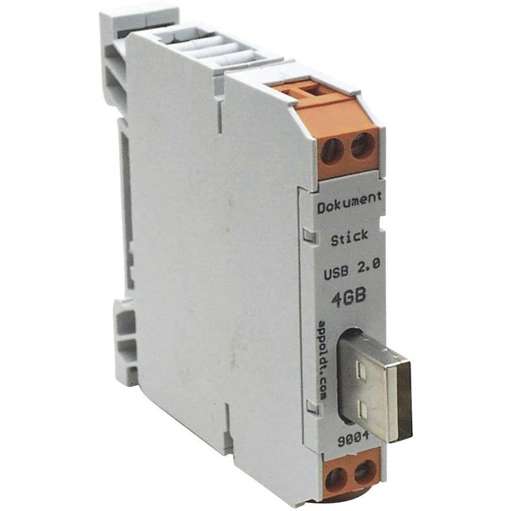 USB-stick til DIN-skinne 1 stk Appoldt USB2.0-8GB-A IP54