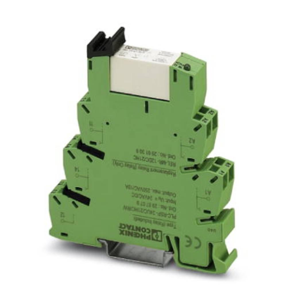 Interfacerelæ 10 stk 24 V/DC, 24 V/AC 6 A 1 x skiftekontakt Phoenix Contact PLC-RSP- 24UC/21HC/RW