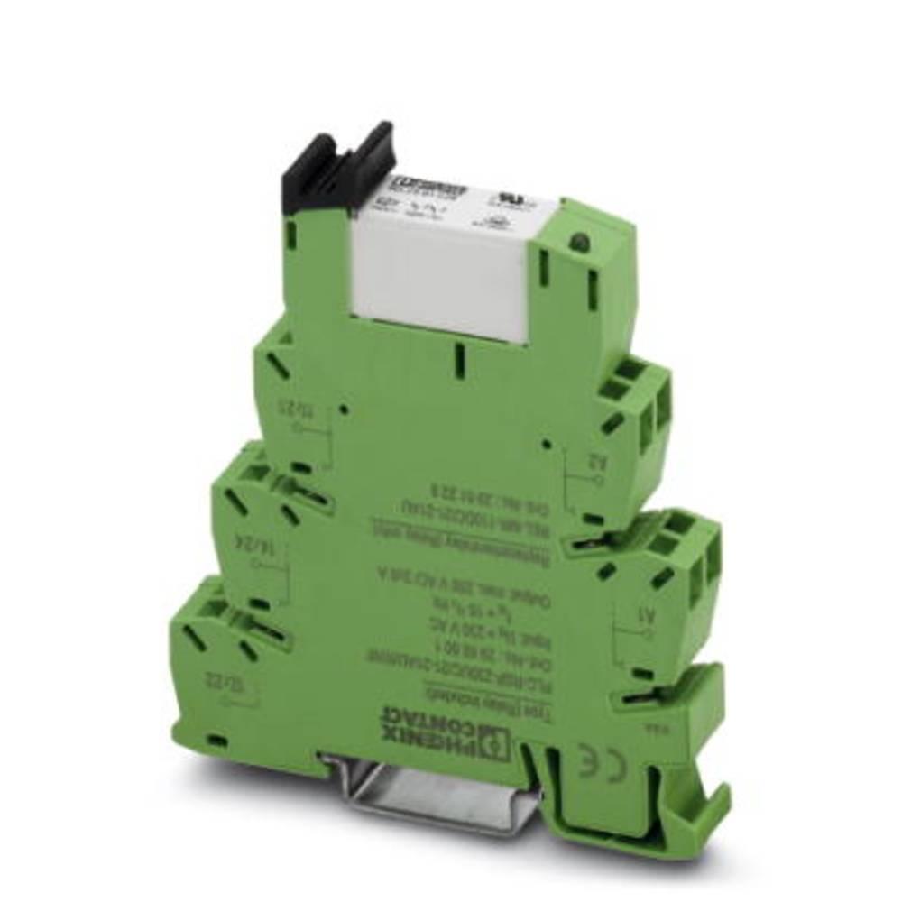 Relaisbaustein (value.1292895) 10 stk Phoenix Contact PLC-RSP-230UC/21-21AU/RWF Nominel spænding: 230 V/AC Brydestrøm (max.): 6