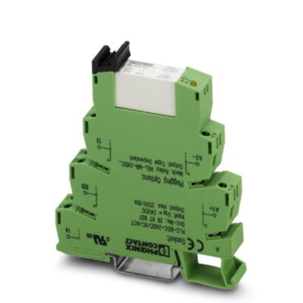 Interfacerelæ 10 stk 24 V/DC 6 A 1 x sluttekontakt Phoenix Contact PLC-RSC- 24DC/ 1IC/ACT