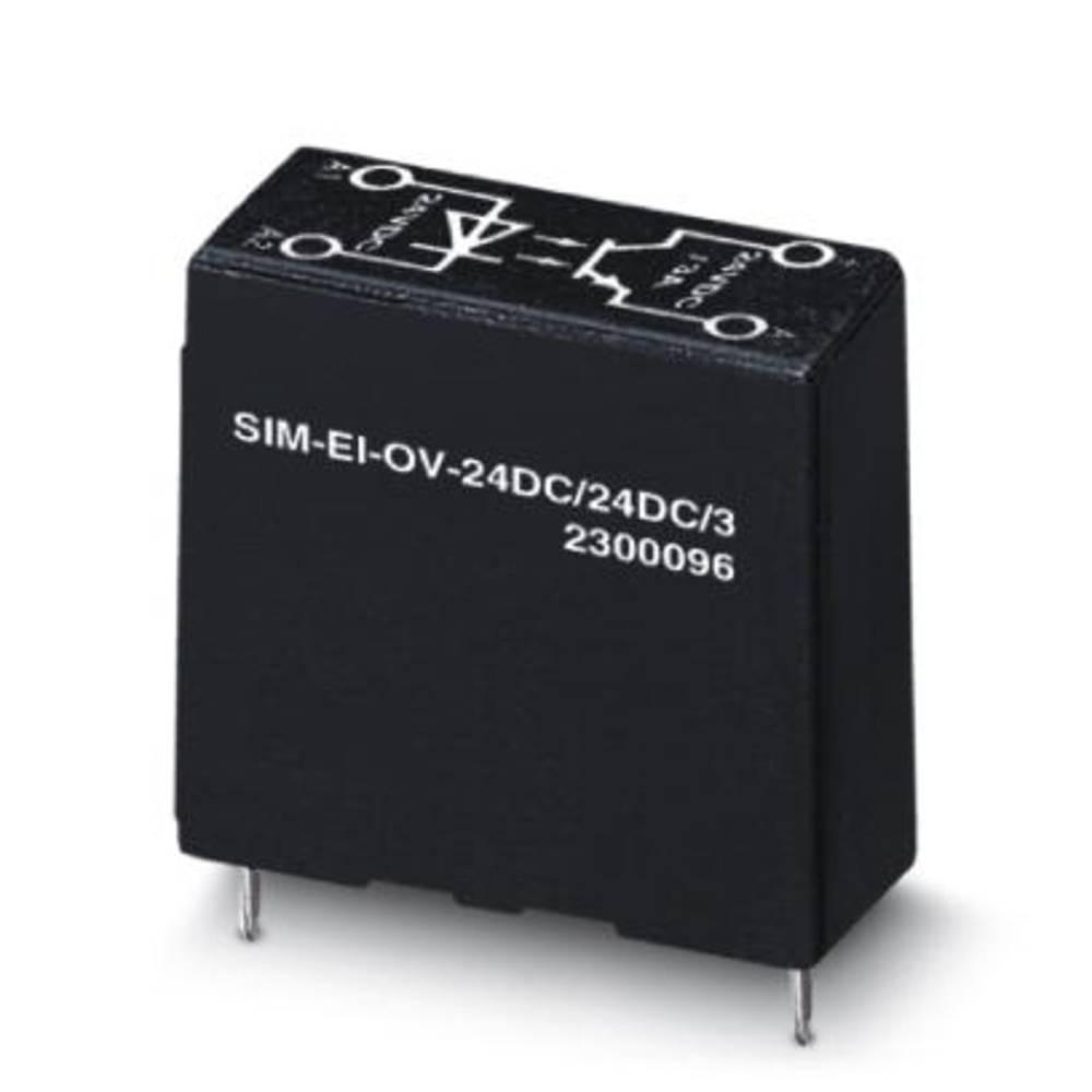 Halbleiterrelais (value.1292894) 10 stk Phoenix Contact SIM-EI-OV- 24DC/ 24DC/3 Last-Strøm (maks.): 3 A Koblingsspænding (max.):