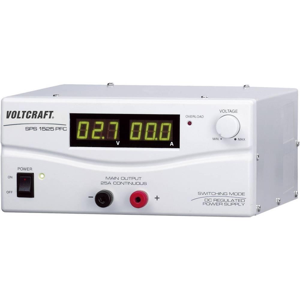 Laboratorijski napajalnik, nastavljiv VOLTCRAFT SPS 1525 PFC 3 - 15 V/DC 2 - 25 A 375 W daljinsko vodenje število izhodov: 1 x k