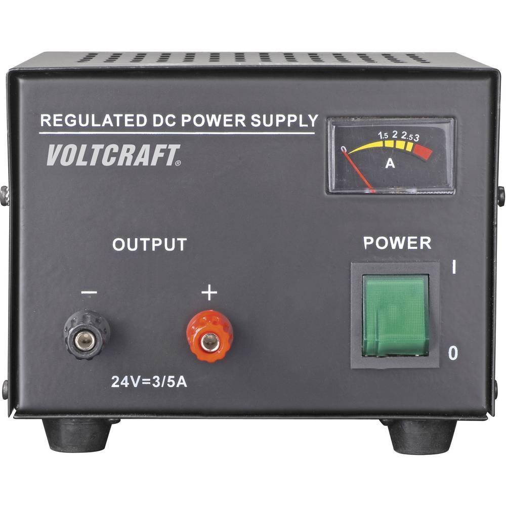 Laboratorijski napajalnik, s stalno napetostjo VOLTCRAFT FSP-1243 24 V/DC 3 A 72 W število izhodov: 1 x kalibriran po DAkkS