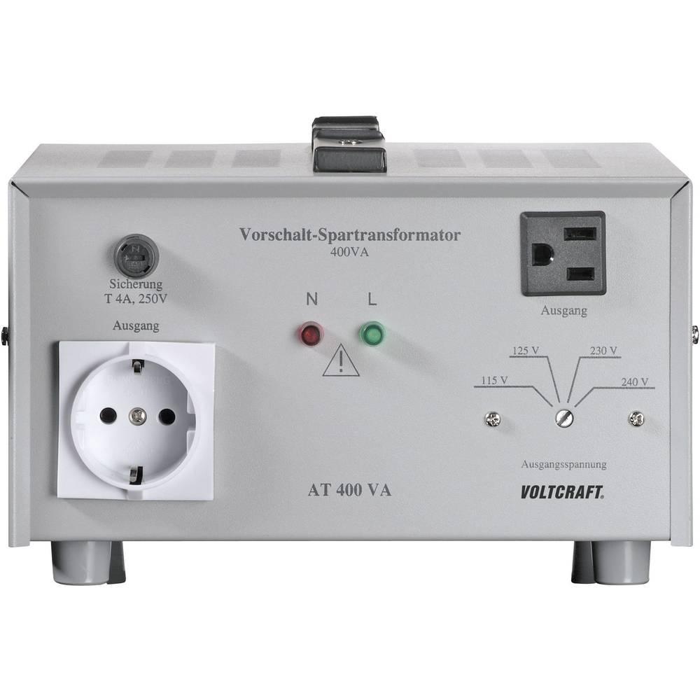 VOLTCRAFT AT-400 NV prednaponski transformator, naponski konvertor, 115/125/230/240 V/AC / 230/240/115/125 V/AC / 400 W