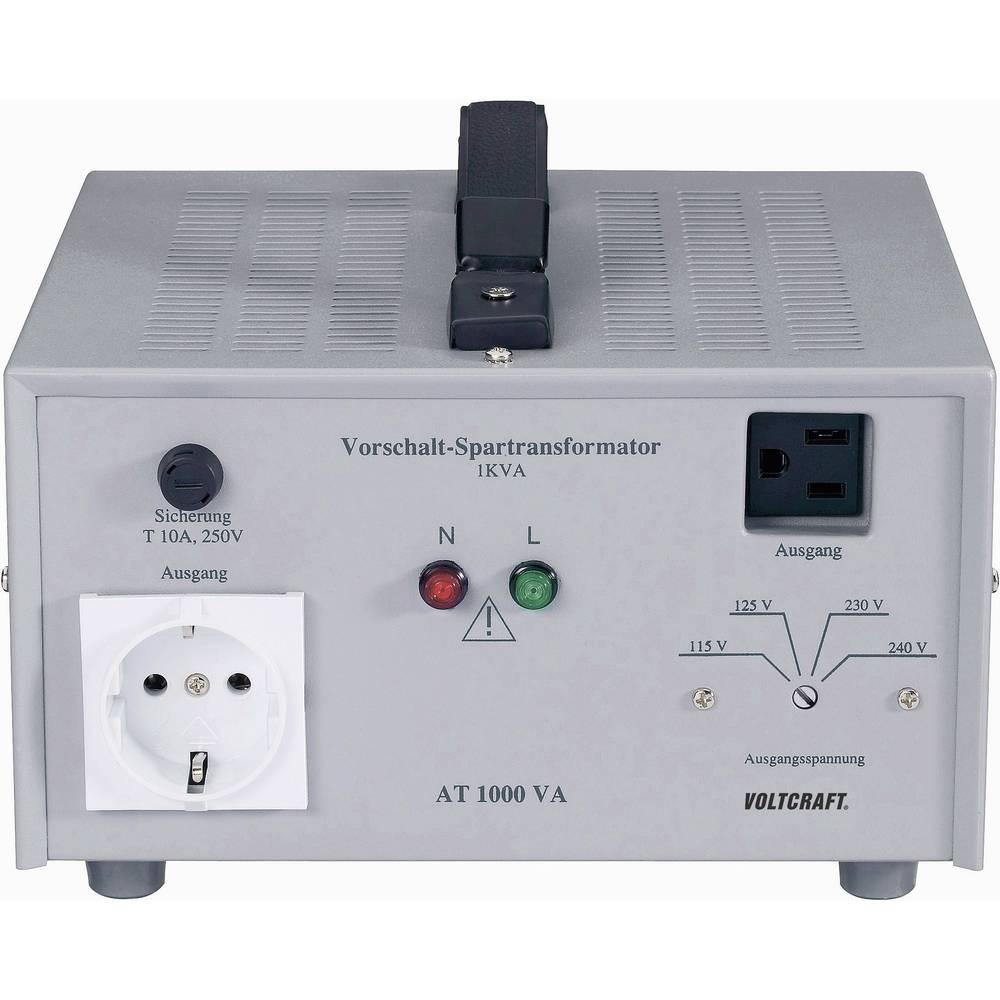 VOLTCRAFT AT-1500 NV prednaponski transformator, naponski konvertor, 115/125/230/240 V/AC / 230/240/115/125 V/AC / 1500 W