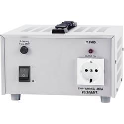 VOLTCRAFT IT-1500 univerzalni laboratorijski ločilni transformator 1500 VA 230 V/AC, trafo kalibriran po ISO