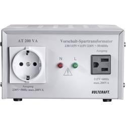 VOLTCRAFT AT-200 NV predstikalni transformator, napetostni, 115/230 V/AC / 230/115 V/AC / 200 W - ISO kalibriran