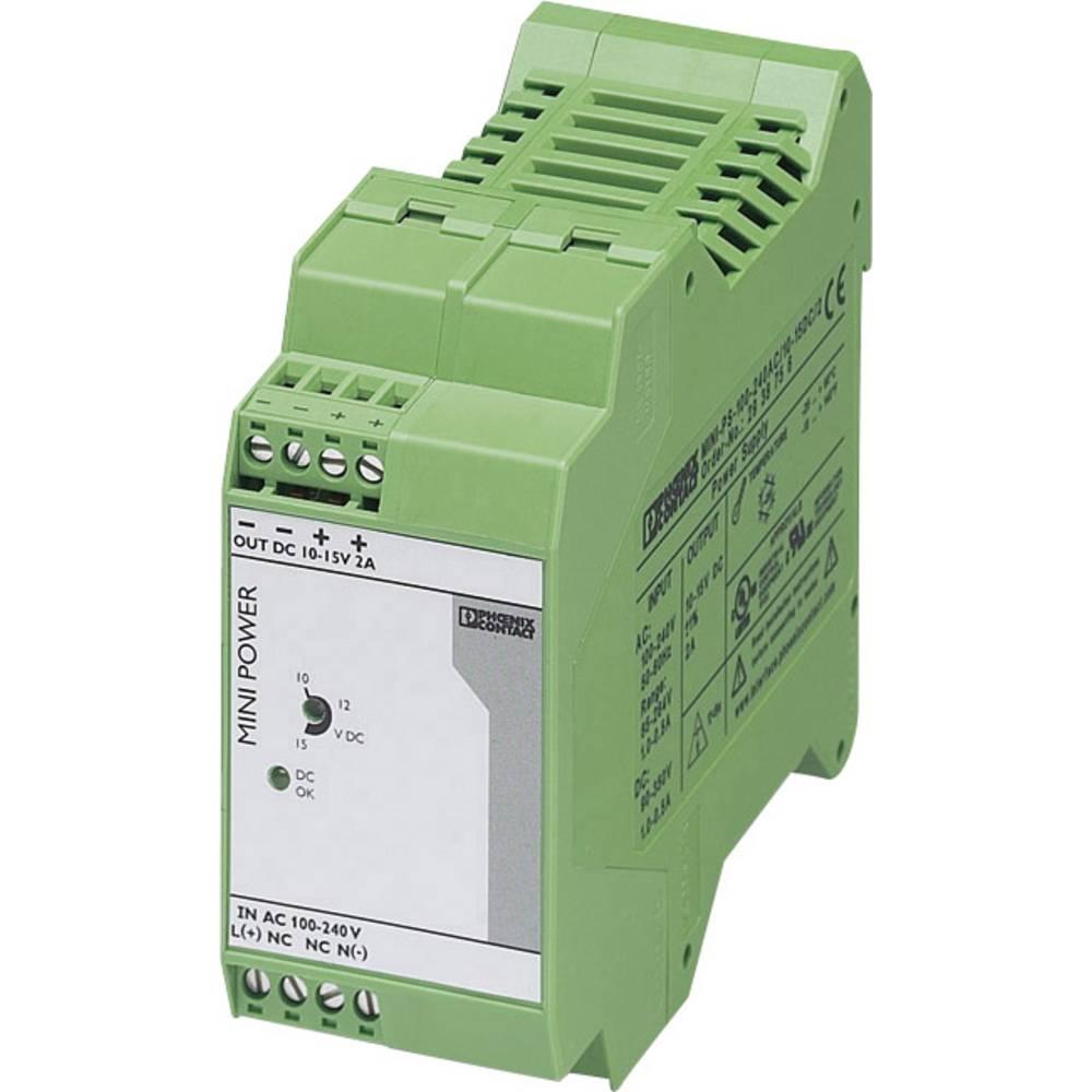 Napajalnik za namestitev na vodila (DIN letev) Phoenix Contact MINI-PS-100-240AC/10-15DC/2 2 A 30 W 1 x