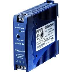 Napajalnik za namestitev na vodila (DIN letev) TDK-Lambda DPP-15-24 28.5 V/DC 0.63 A 15 W 1 x