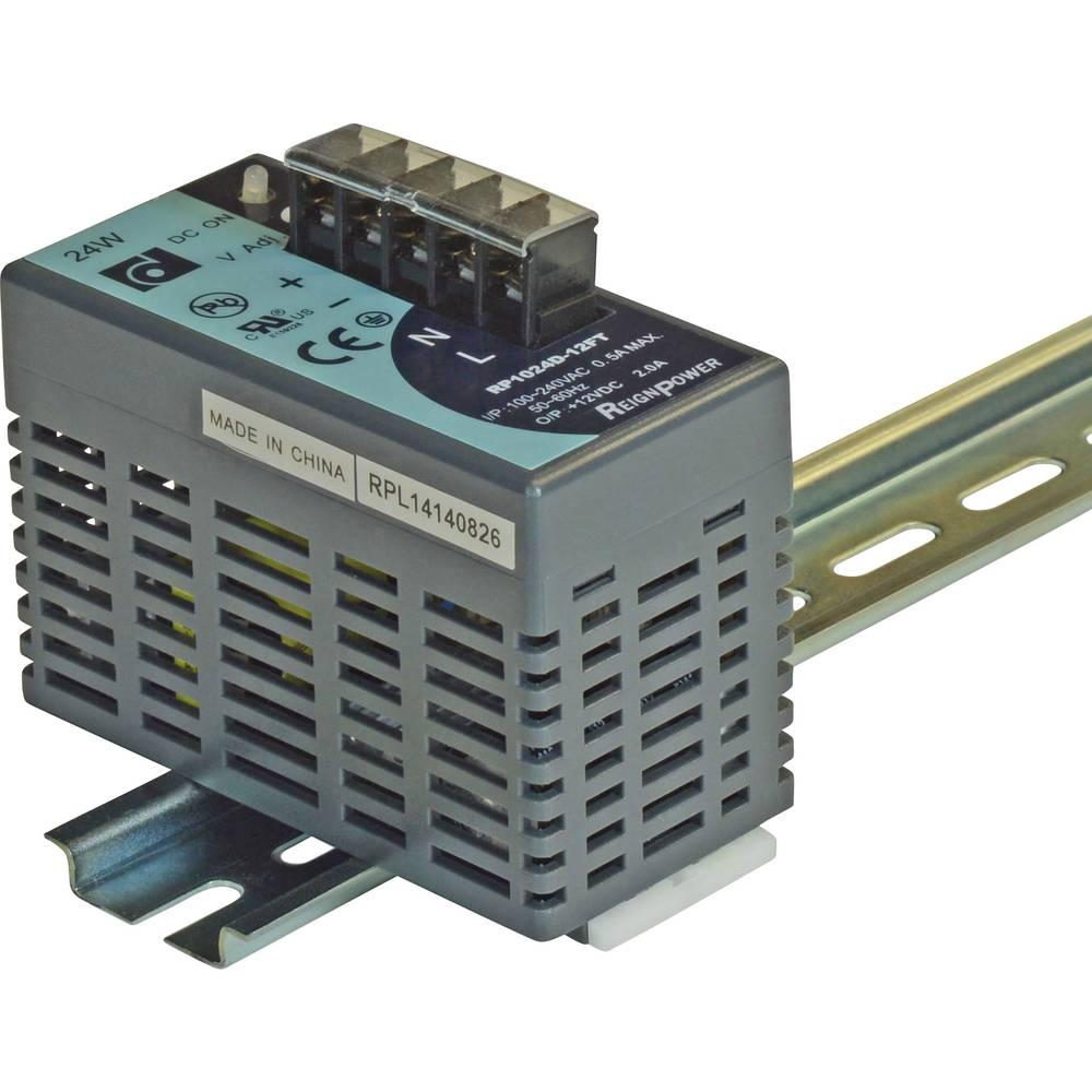 Adapter napajanja za profilne šine (DIN-letva) Dehner Elektronik DRP-024D-15F 16.5 V/DC 1.6 A 24 W 1 x