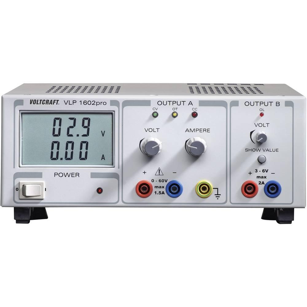 Laboratorieaggregat, justerbar VOLTCRAFT VLP 1602pro 0 - 60 V/DC 2 x
