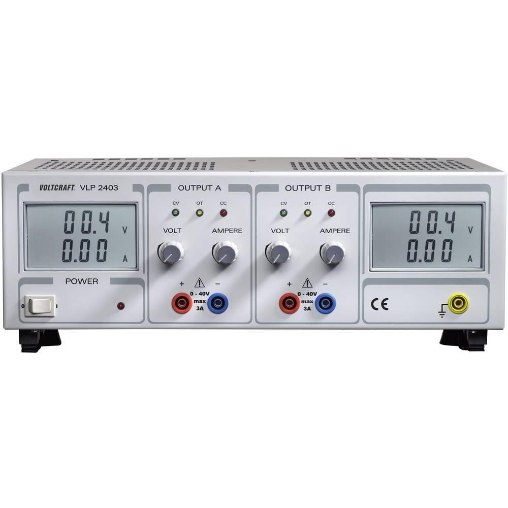 Laboratorijski napajalnik, nastavljiv VOLTCRAFT VLP 2403 0 - 40 V/DC 0 - 3 A 240 W število izhodov: 2 x kalibriran po ISO