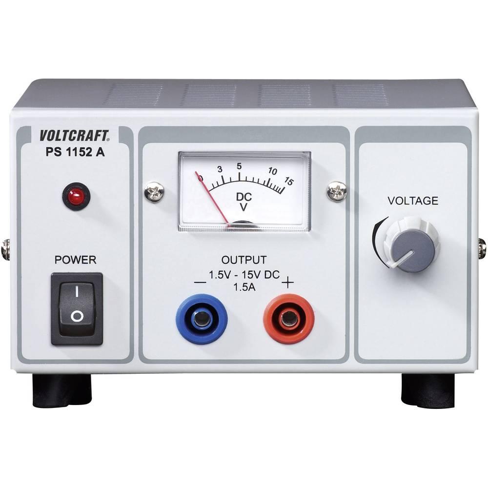 Laboratorijski napajalnik, nastavljiv VOLTCRAFT PS-1152 A 1.5 - 15 V/DC 1.5 - 1 A 22.5 W število izhodov: 1 x