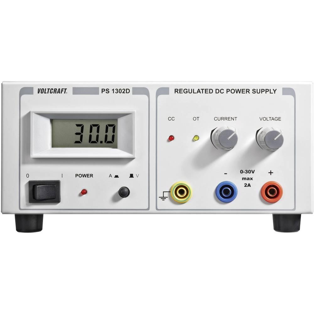 Laboratorijski napajalnik, nastavljiv VOLTCRAFT PS-1302 D 0 - 30 V/DC 0 - 2 A 60 W število izhodov: 1 x
