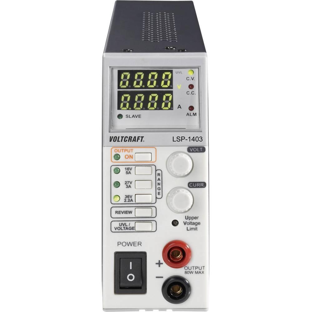 VOLTCRAFT LSP-1403 Taktnini Uski toranj laboratorijski adapter napajanja, laboratorijski napojski uređaj, / 0 - 5 A, 80 W tanki