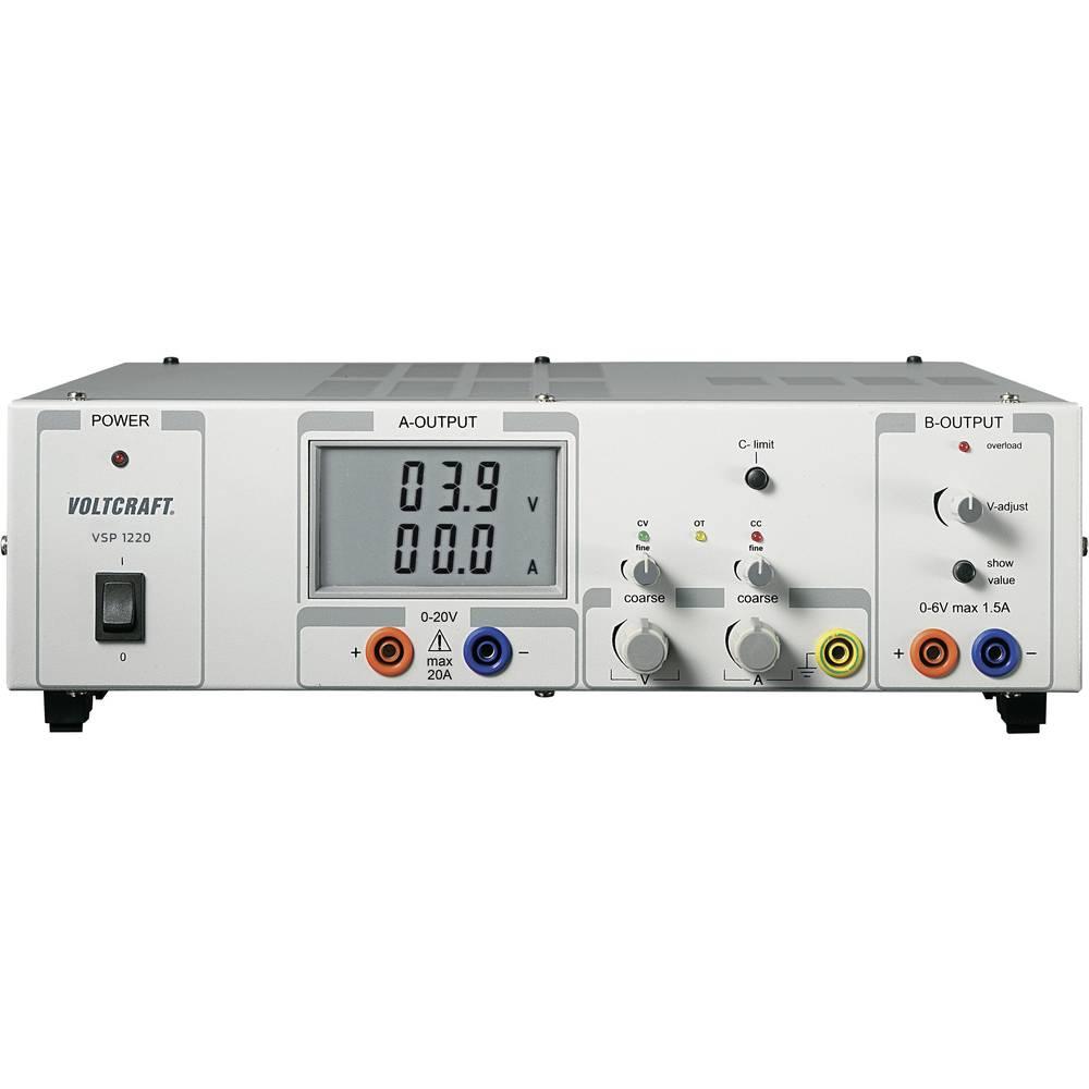 Laboratorijski napajalnik, nastavljiv VOLTCRAFT VSP 1220 0.1 - 20 V/DC 0 - 20 A 409 W število izhodov: 2 x