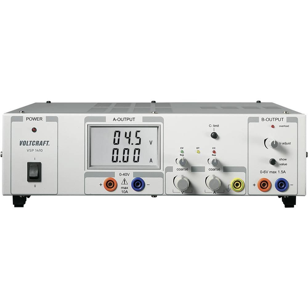 Laboratorijski napajalnik, nastavljiv VOLTCRAFT VSP 1410 0.1 - 40 V/DC 0 - 10 A 409 W število izhodov: 2 x
