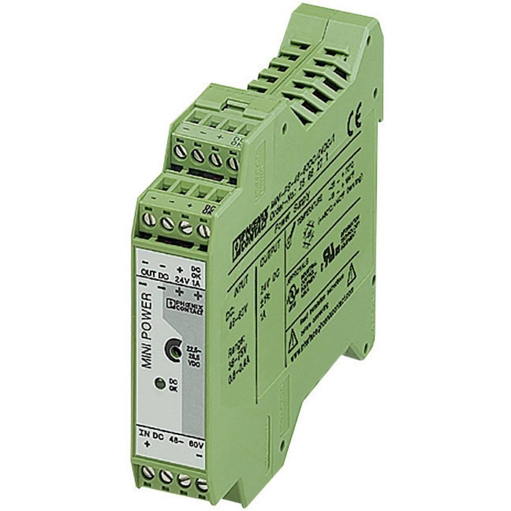 Napajalnik za namestitev na vodila (DIN letev) Phoenix Contact MINI-PS-48-60DC/24DC/1 24 V/DC 1 A 24 W 1 x