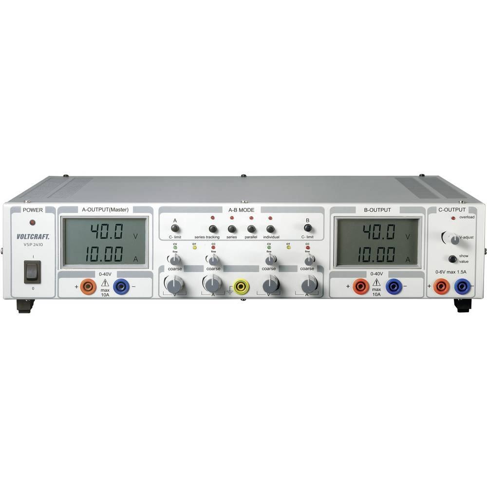 Laboratorijski napajalnik, nastavljiv VOLTCRAFT VSP 2410 0.1 - 40 V/DC 0 - 10 A 809 W število izhodov: 3 x