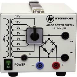 Kal. ISO-Laboratorijski napajalnik, nastavljiv Statron 5359.3 2 - 14 V/AC 5 A 75 W št. izhodov 2 x