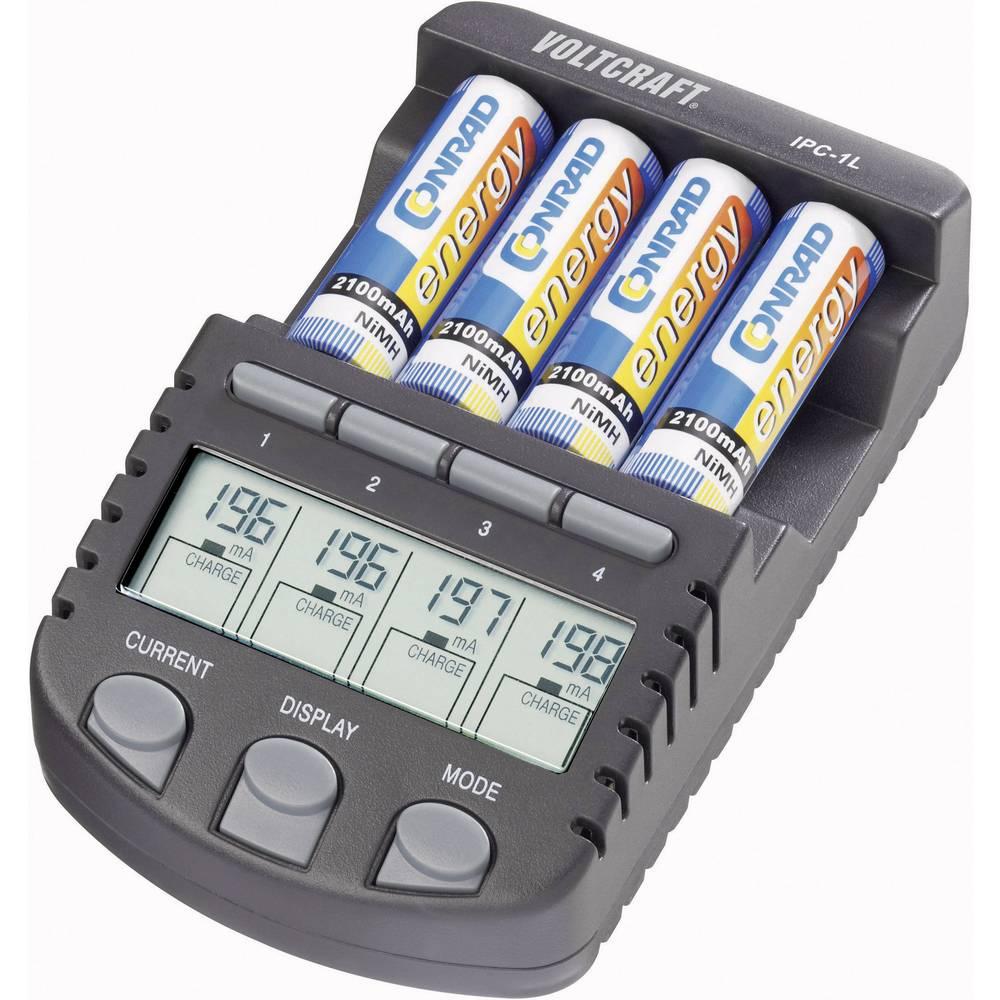 Uređaj za punjenje i održavanje baterija IPC-1L VOLTCRAFT NiMH, NiCd, mikro (AAA), mignon (AA)