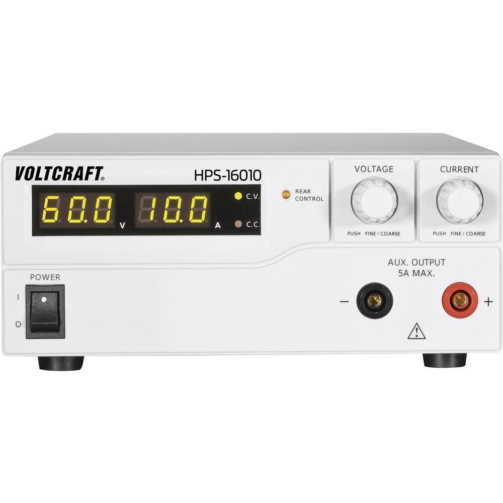 Laboratorijski napajalnik, nastavljiv VOLTCRAFT HPS-16010 1 - 60 V/DC 0 - 10 A 600 W daljinsko vodenje število izhodov: 1 x kali