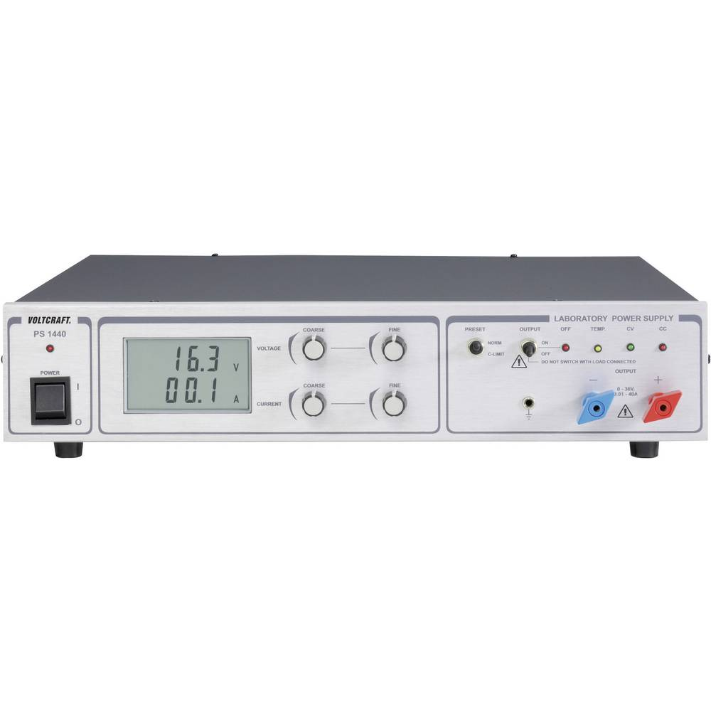 Laboratorijski napajalnik 19-inčni, nastavljiv VOLTCRAFT PS 1440 0 - 36 V/DC 0 - 40 A 1440 W 1 x